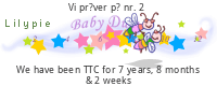 Lilypie Trying to Conceive Event tickers